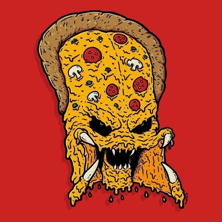 Predaroni pizza - illustration, illustrator - rigourstudio | ello