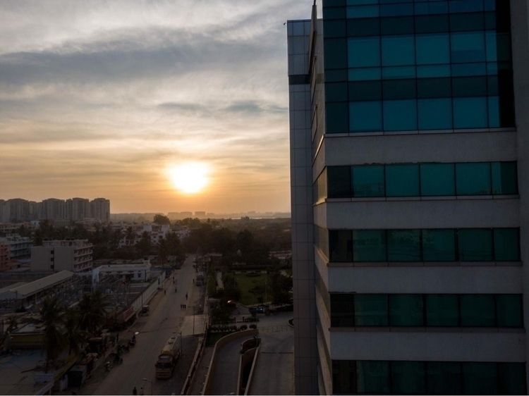 Drone shot..sunset - agam25 | ello