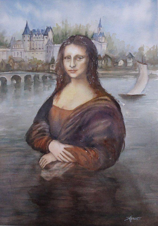 Jocondia 2019, 50x70 cm - watercolor, - emmaquarellewatercolor | ello