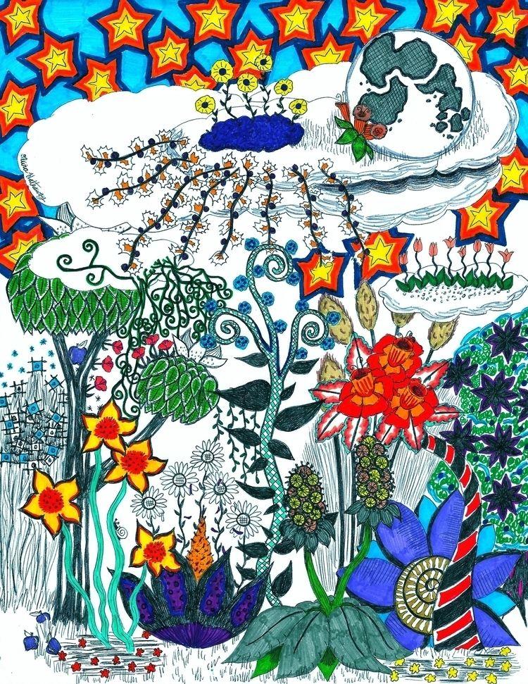 Moon Flowers Abstract. abstract - okhismakingart | ello