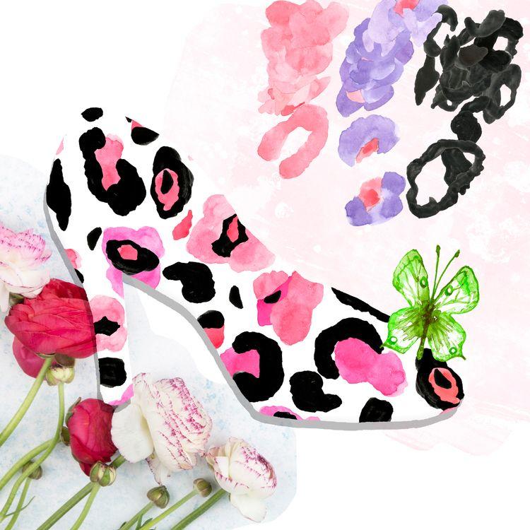 Leopard - collage, animalskin, print - nekotangerine | ello