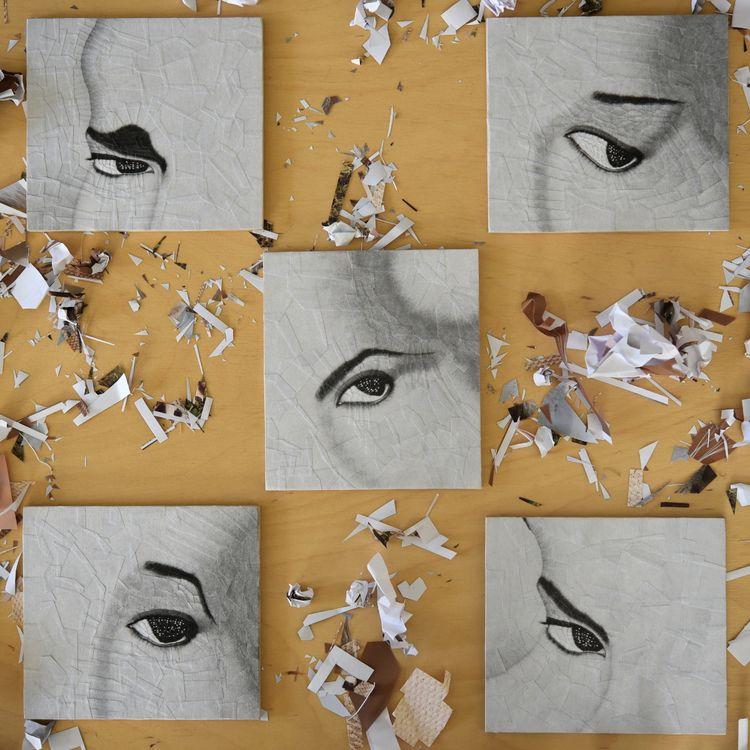eye collages, studios 2011, fin - loladupre | ello