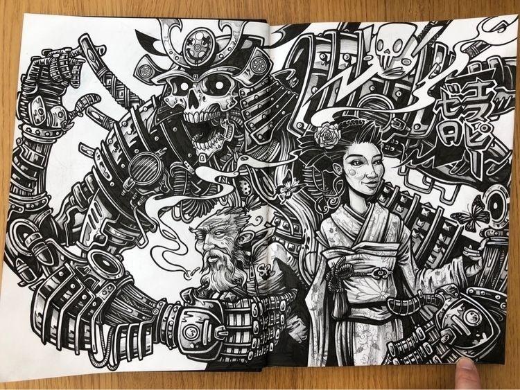 'Protection'. Finished doodle.  - spzero76   ello