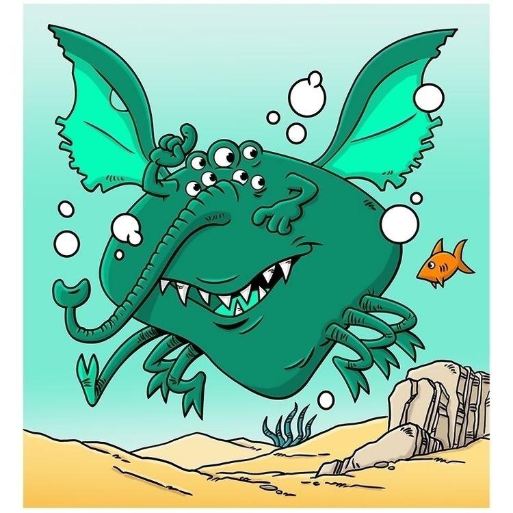 Monster Deep Monsters Draw styl - dave_windett   ello