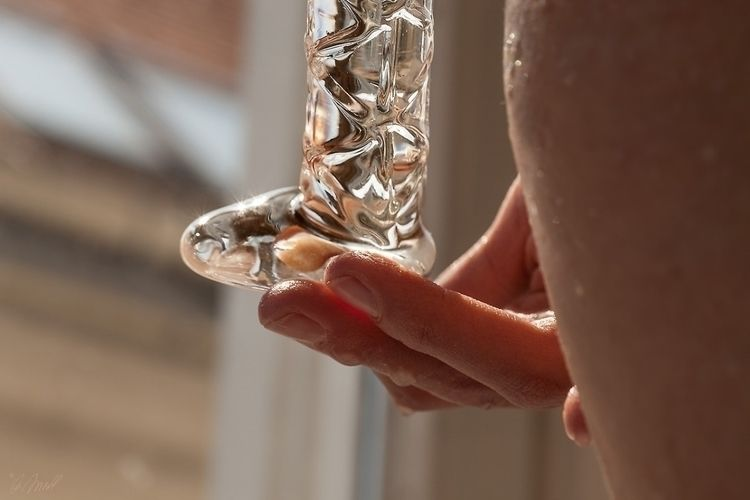 glass, dildo, wet, masturbation - andreasfriedl | ello