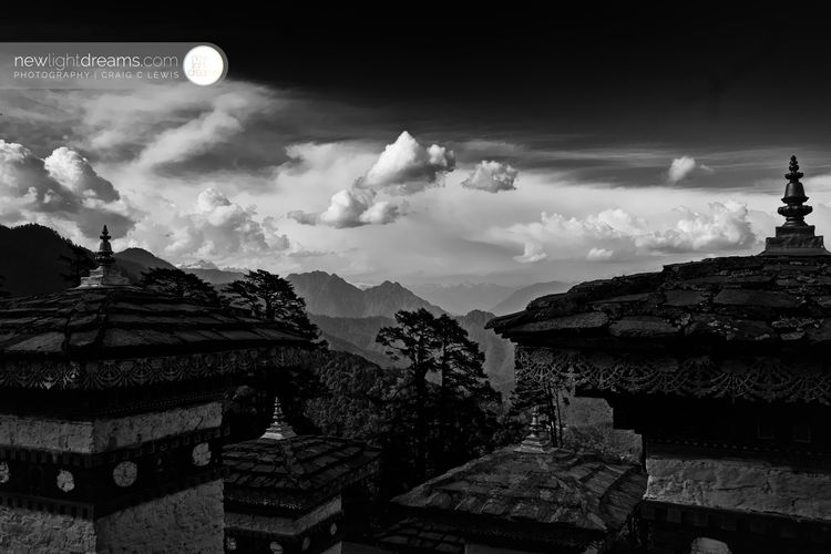 Himalayan peaks loom Druk Wangy - newlightdreams | ello