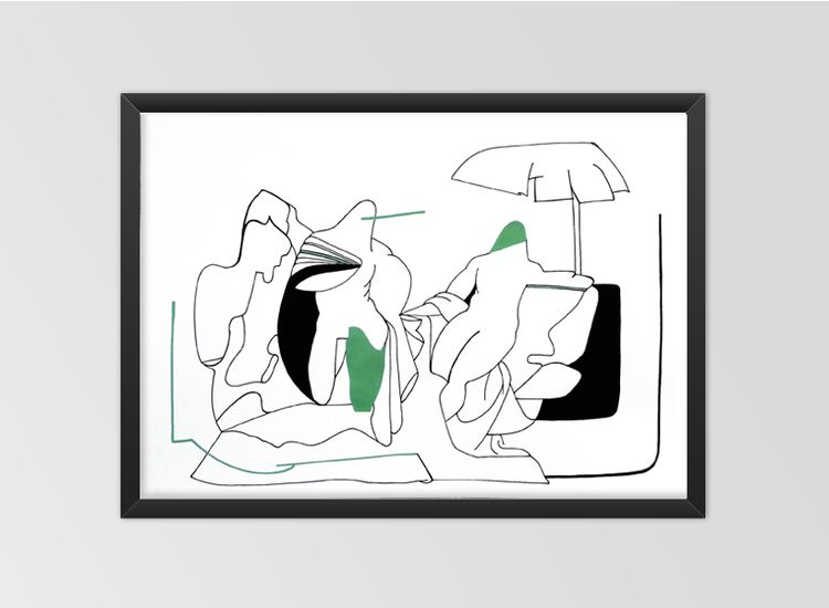 PAPER alike acrylic paper Fabri - moonmambo | ello
