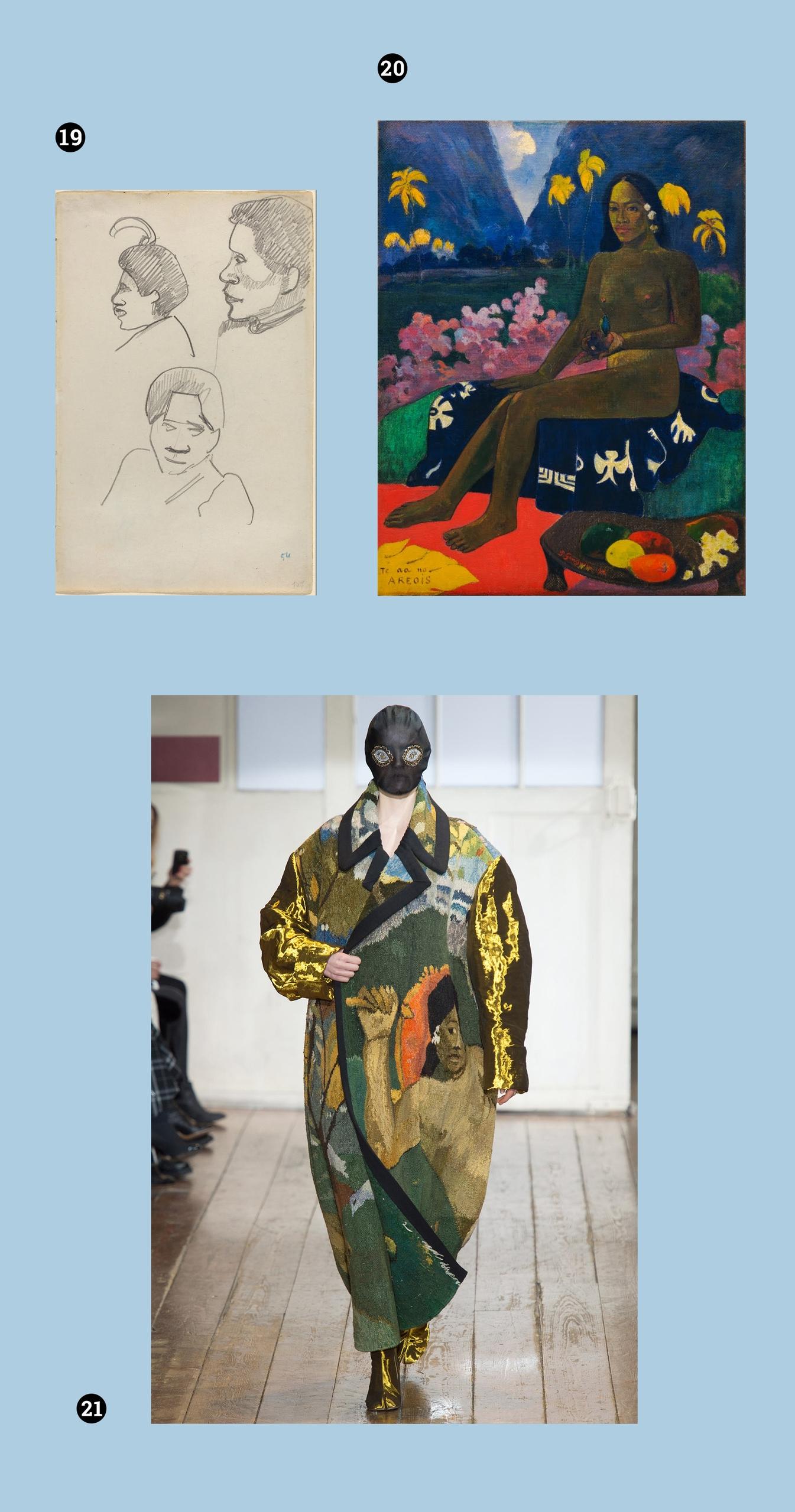 Obraz przedstawia trzy zdjęcia. Na jednym z nich widzimy postać w czarnej masce, na dwóch pozostałych widnieją obrazy znanych malarzy.