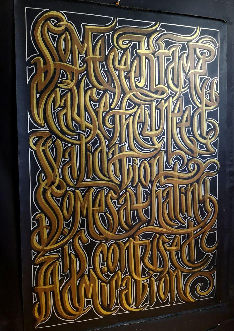 latest calligraphy art painting - mrjuice | ello
