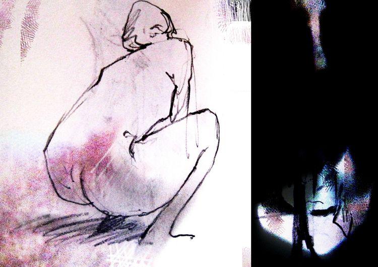 Pencil charcoal?) sketch, life - wernerclaessens | ello