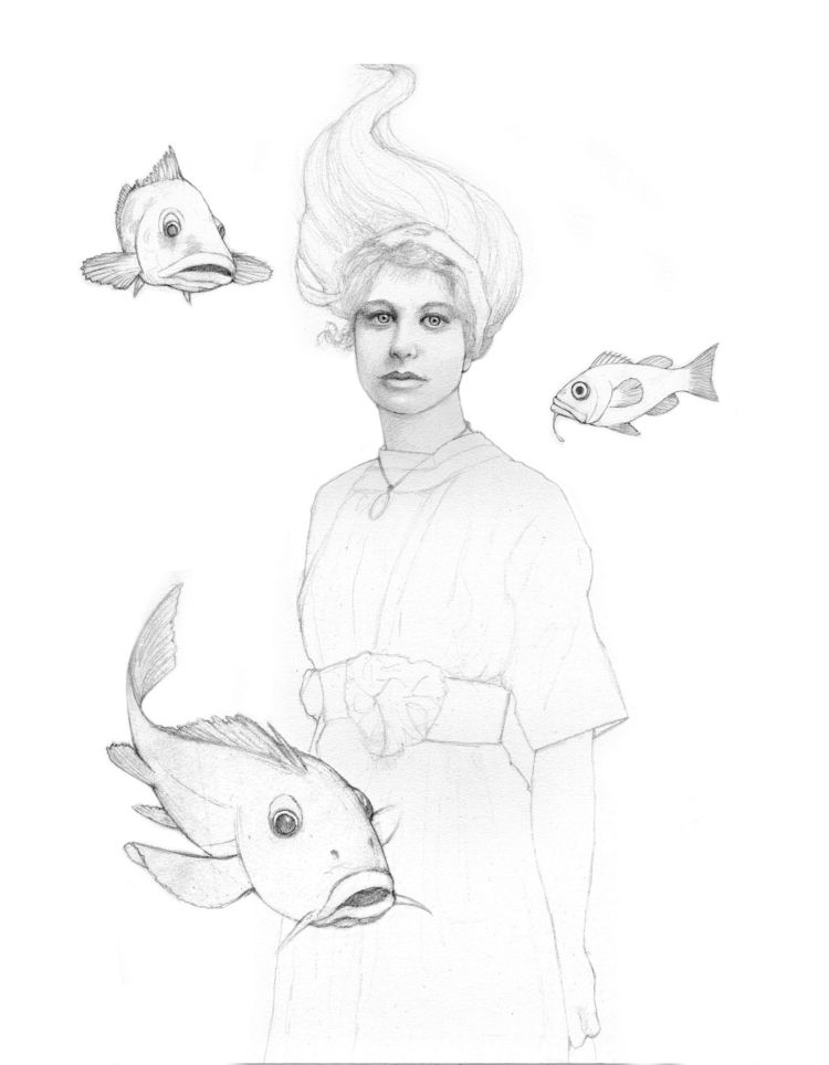 set drawing Ghost Darcy Fish - travislouie | ello