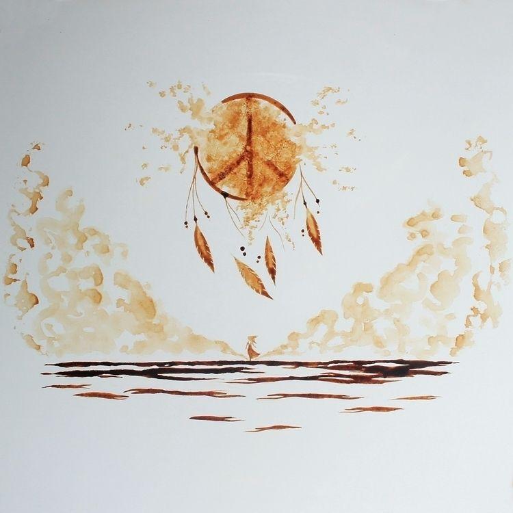 Dreamer Path coffee - illustration - coffeetopia | ello