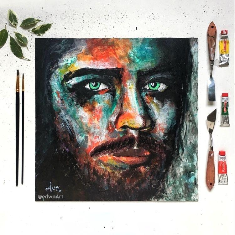 Portrait 1, acrylic panel, 42x4 - edwnart | ello