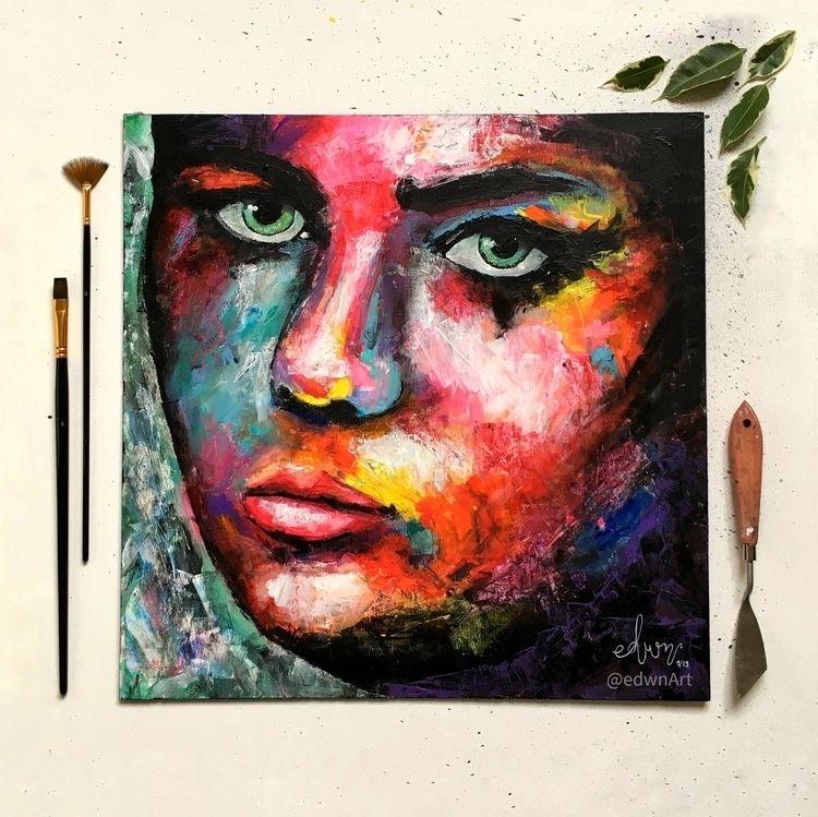 Portrait 2, acrylic panel, 42x4 - edwnart | ello