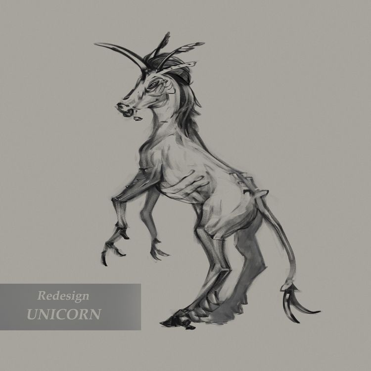2nd sketch unicorn Redesign - eroka   ello