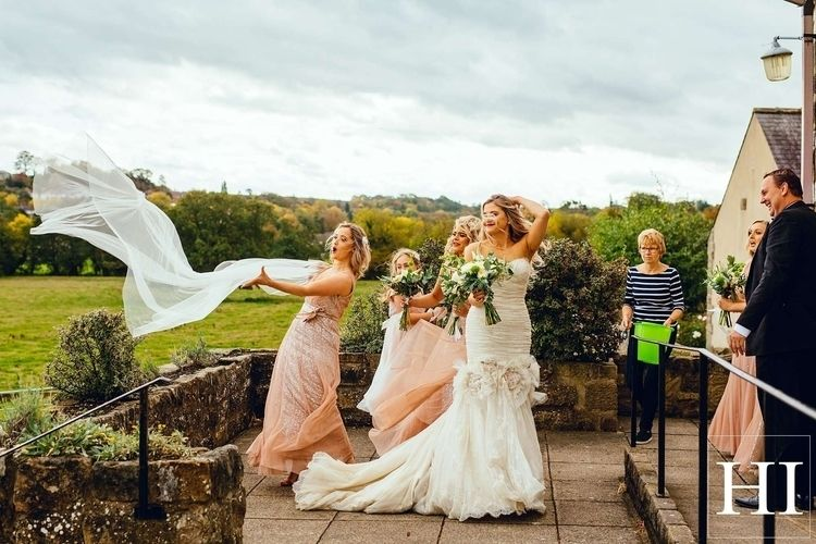 Windy wedding East Keswick Vill - hamishirvinephotographer | ello