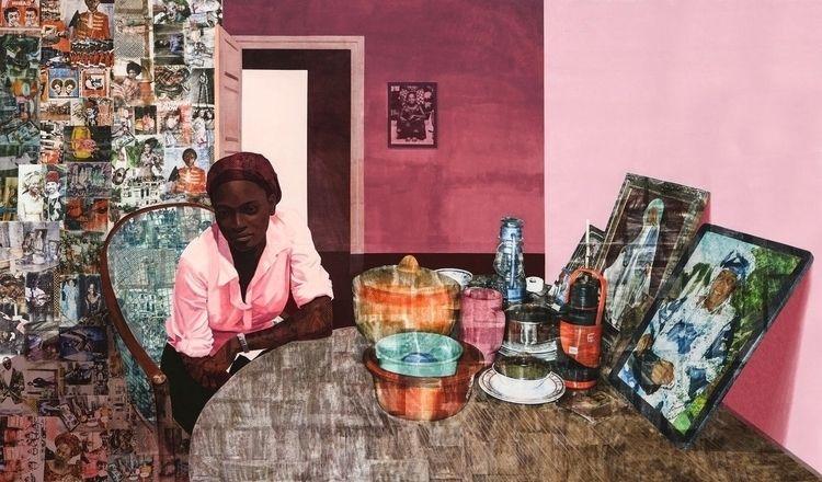 Njideka Akunyili art negotiates - blackartmatters | ello