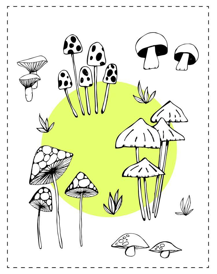 Yummy, mushrooms - illustration - cilvako | ello