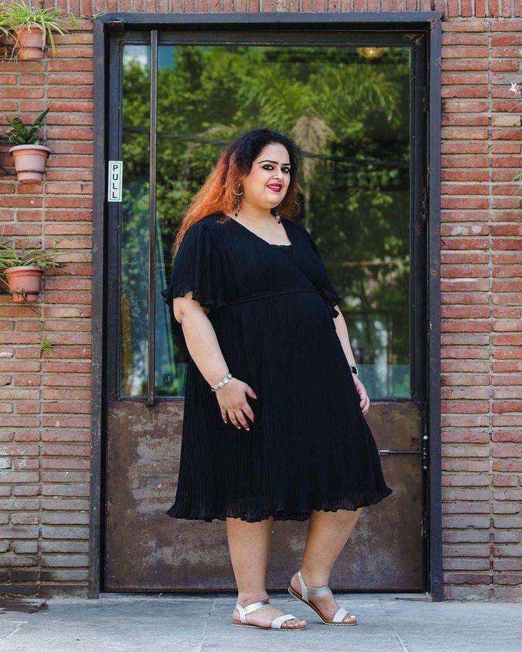 Lapping Pleated Dress - samshek | ello