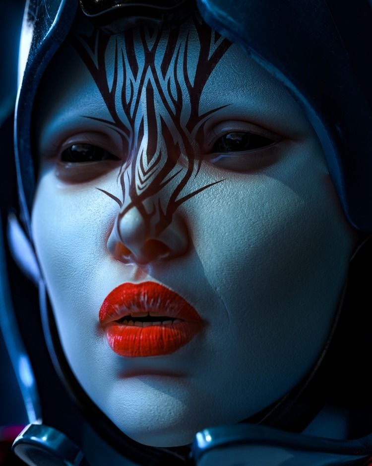 close ups - texture, cyberpunk, neon - skeeva | ello