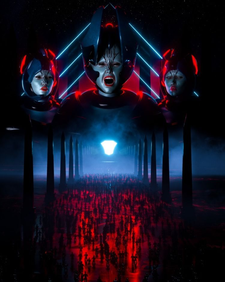 • Eternal Trinity - texture, cyberpunk - skeeva | ello
