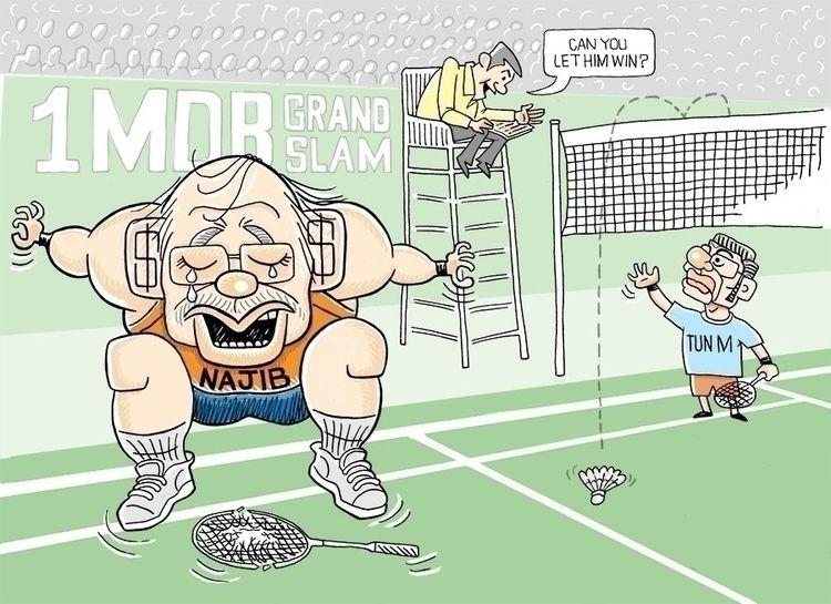 TAK MAU KALAH!  - art, cartoon, caricature - paulchoo | ello