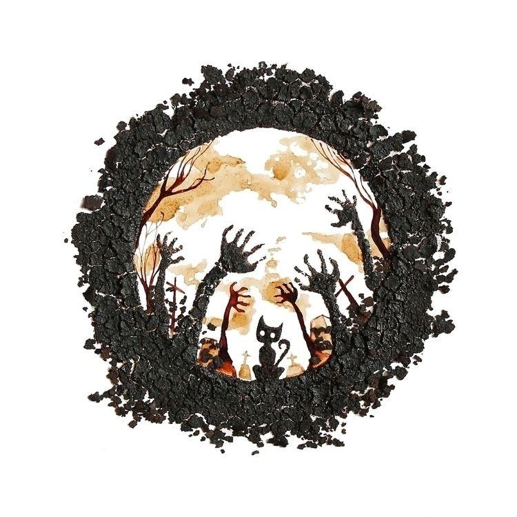 Black Cat work 2013 coffee grin - coffeetopia | ello