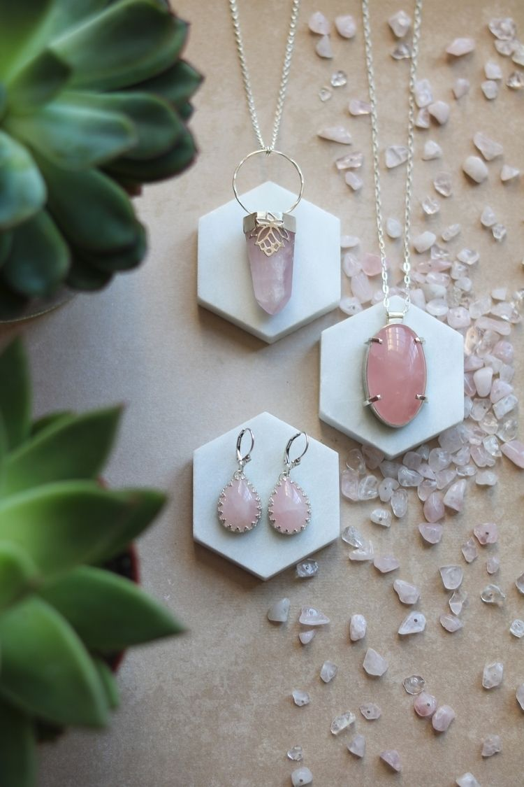 Pieces beautiful Rose Quartz co - stardustmine | ello