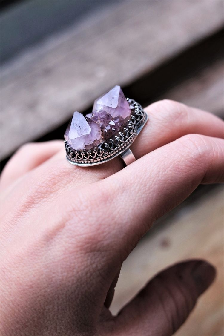 Amethyst Statement Ring happy t - stardustmine | ello