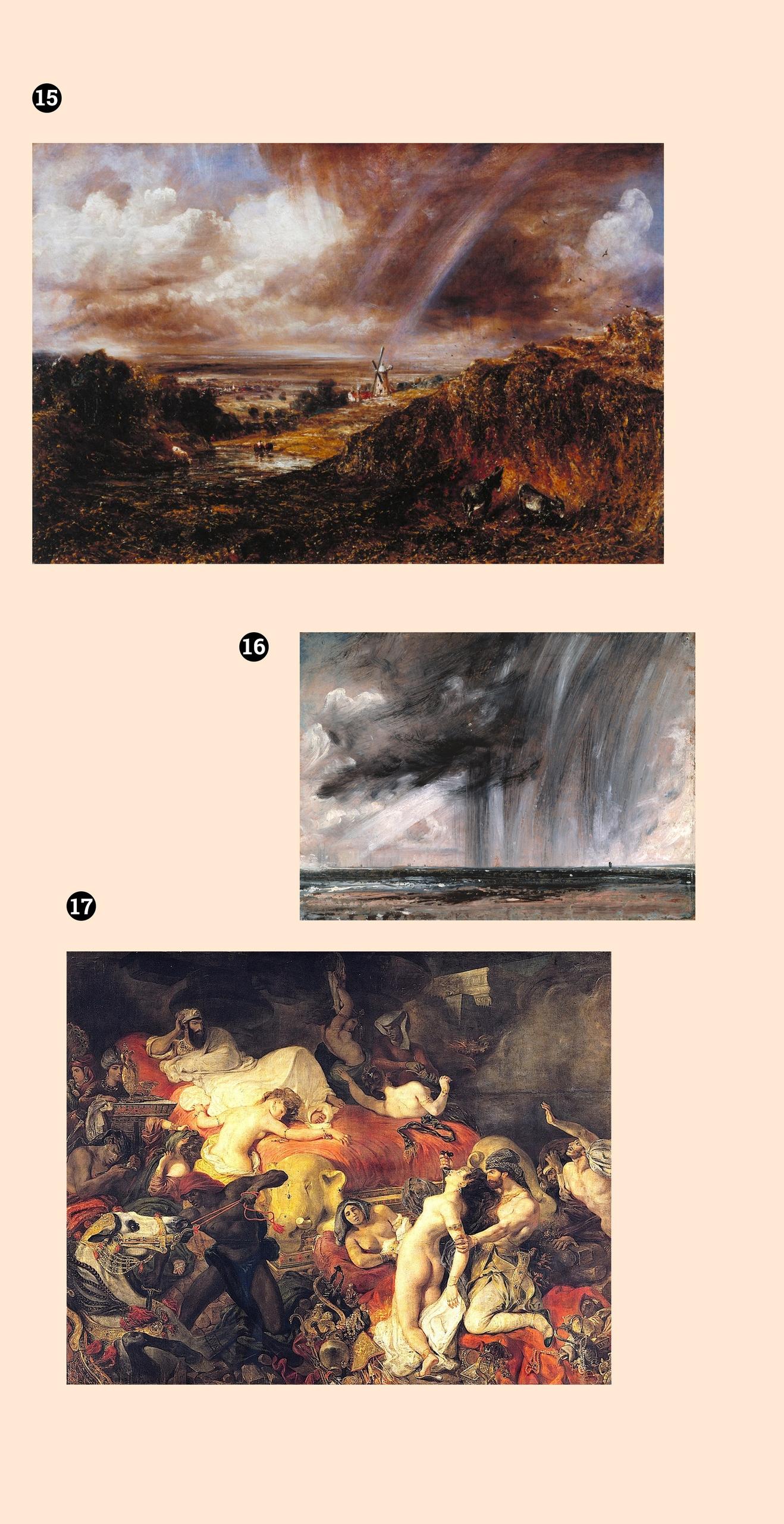 Obraz przedstawia trzy obrazy znanych artystów na jasnym tle.