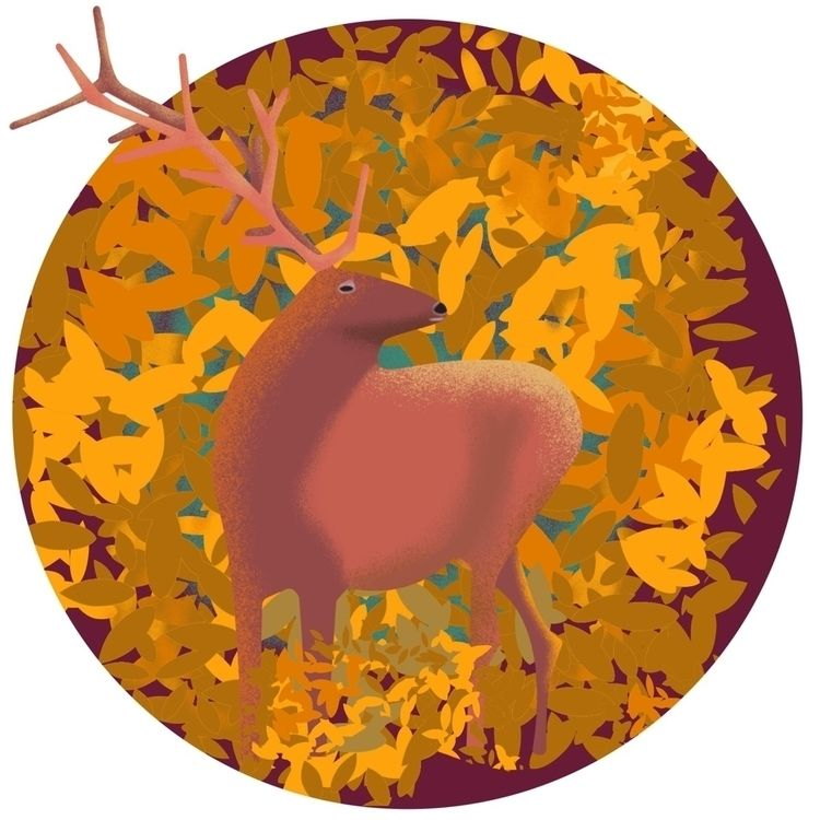 elk, illustration, ilustration - martinillustrates | ello