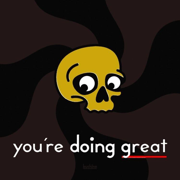 great - tshirt, skull, vector, illustration - buchino | ello