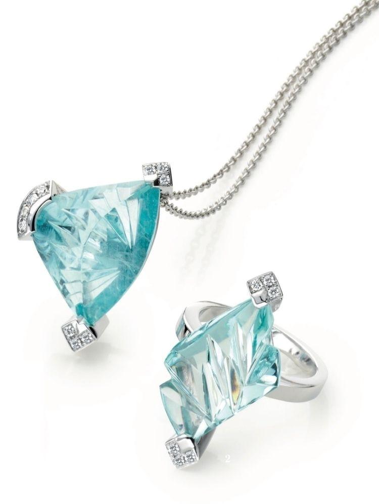 Whitegold, diamonds, aquamarine - lordfade | ello