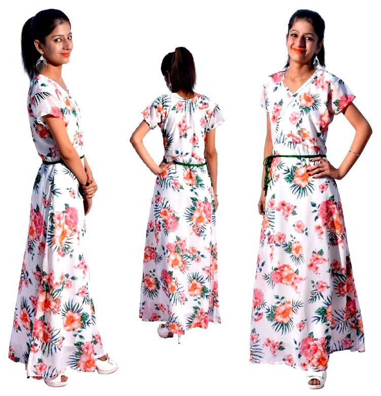 Buy Long Floral Gowns Fashion A - a2mfibers | ello