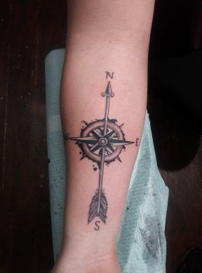 Cool compass arrow tattoo - compasstattoo - yankeedoodlezart | ello