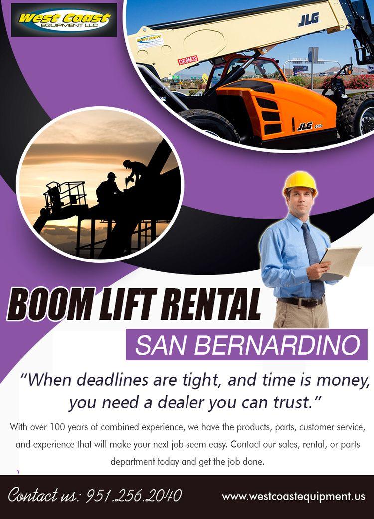 Boom lift rental San Bernardino - forkliftrentaloc | ello
