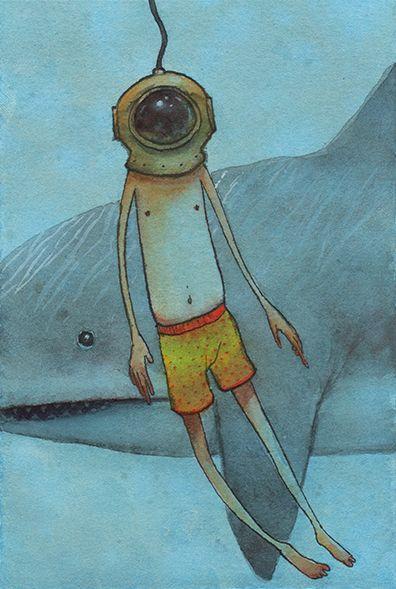 'Judgment Lapse' watercolor, in - gfranciose | ello