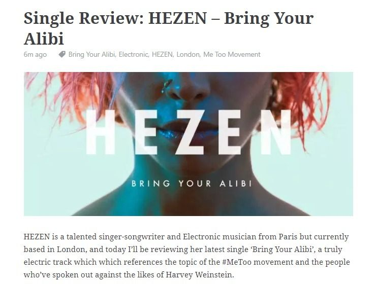 Single Review: HEZEN – Bring Al - offtherecordblog | ello