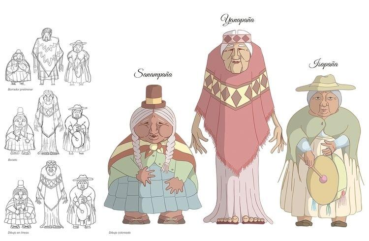 Las Copleras - Characters desig - gastimo | ello