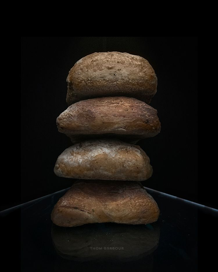 Ciabatta cairn, 2019 - food, bread - thombarbour | ello
