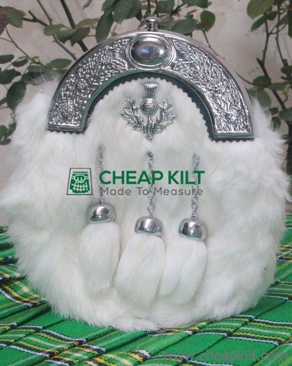 White Rabbit Fur Sporran Thistl - betheliza | ello