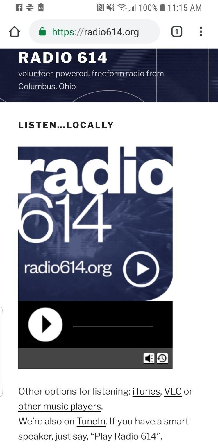 Radio614 Columbus great online  - robbiec67   ello