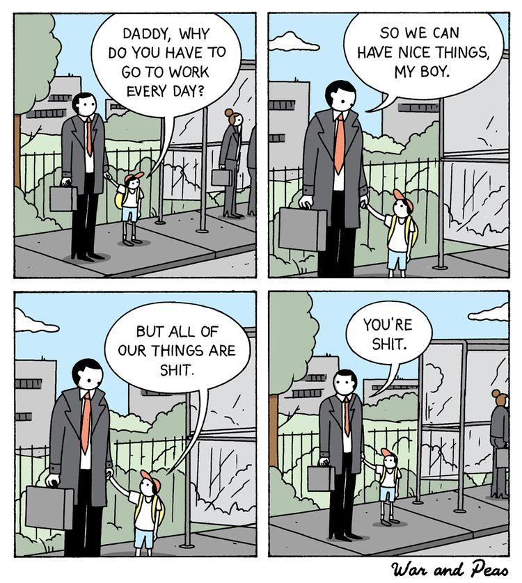 Stressed - comic, warandpeas, daddy - warandpeas | ello