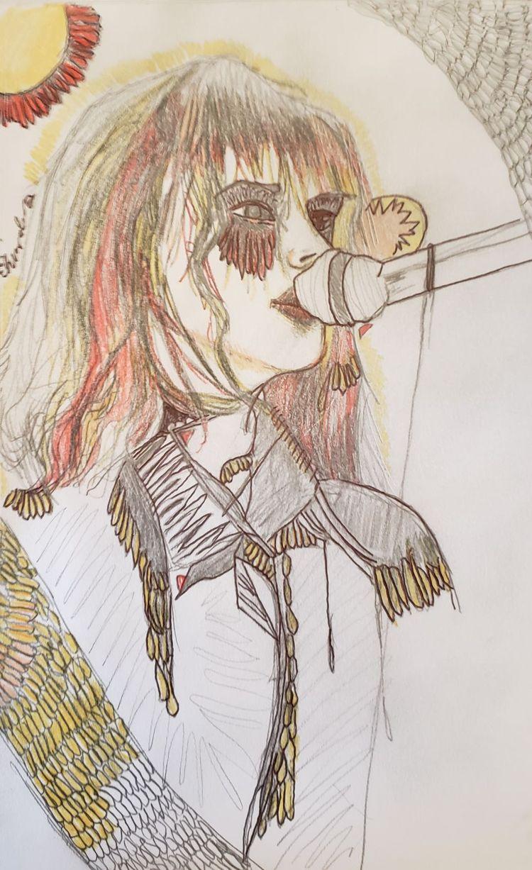 choke tears - drawing, ink - andaelentari | ello