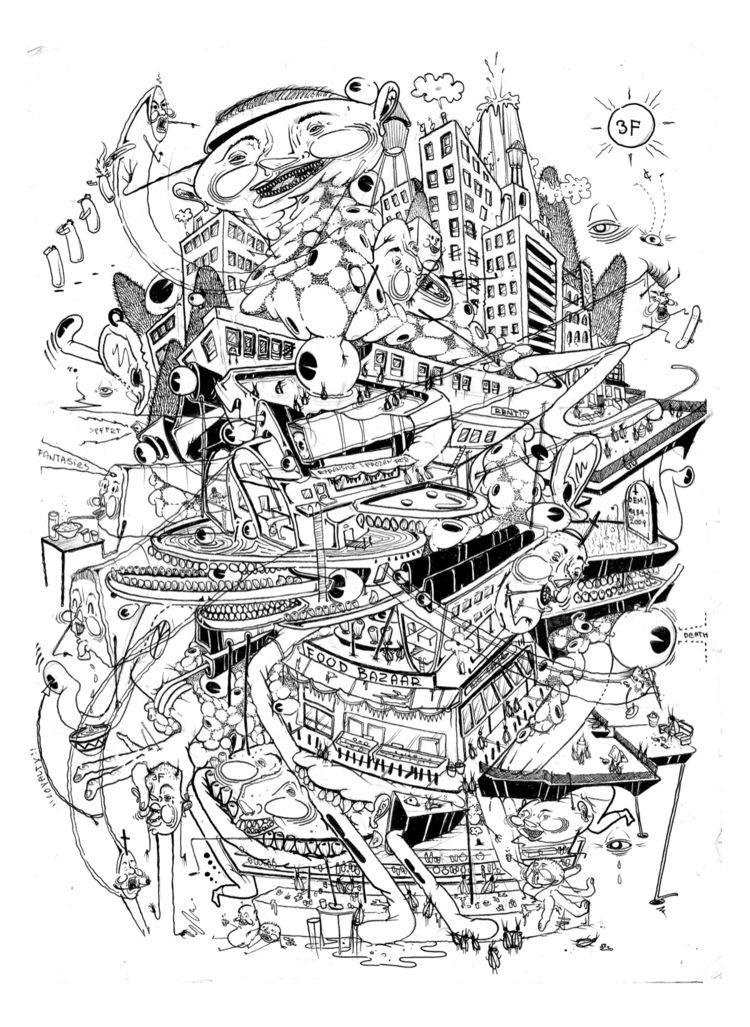 Downstate nyc - art, artwork, doodle - dzzzemi718 | ello
