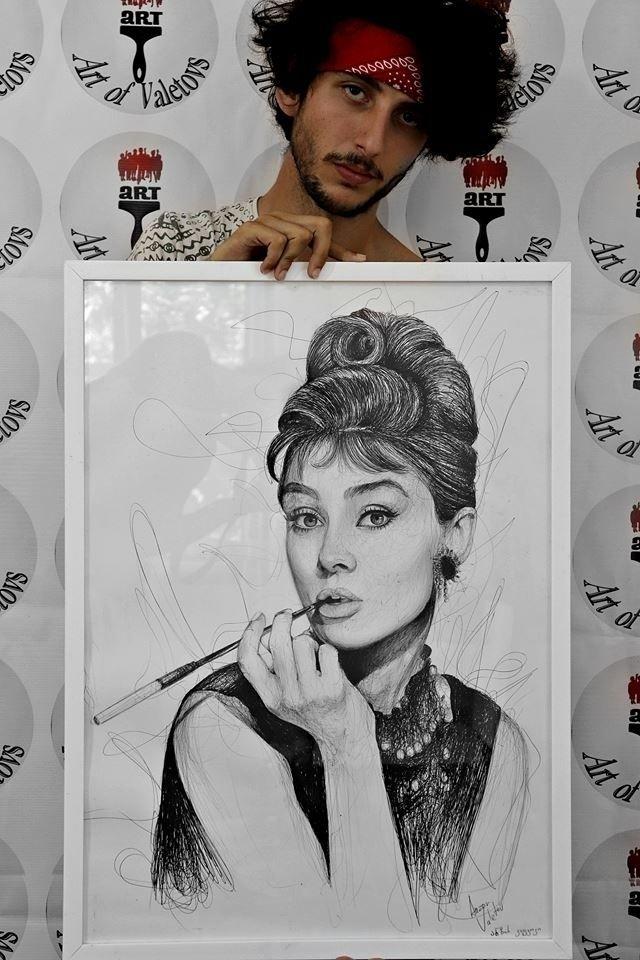 Portrait: Audrey hepburn・Портре - art_of_valetovs | ello