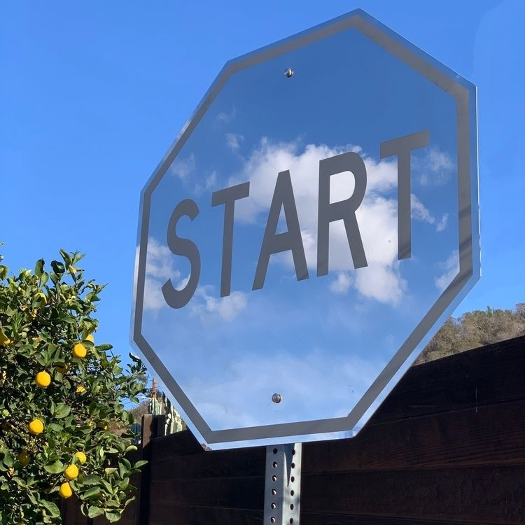 36 Mirror START Sign Installed  - scottfroschauer | ello
