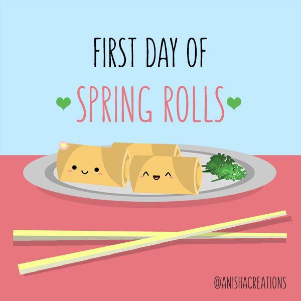 Happy Day Spring Rolls season h - anishacreations | ello