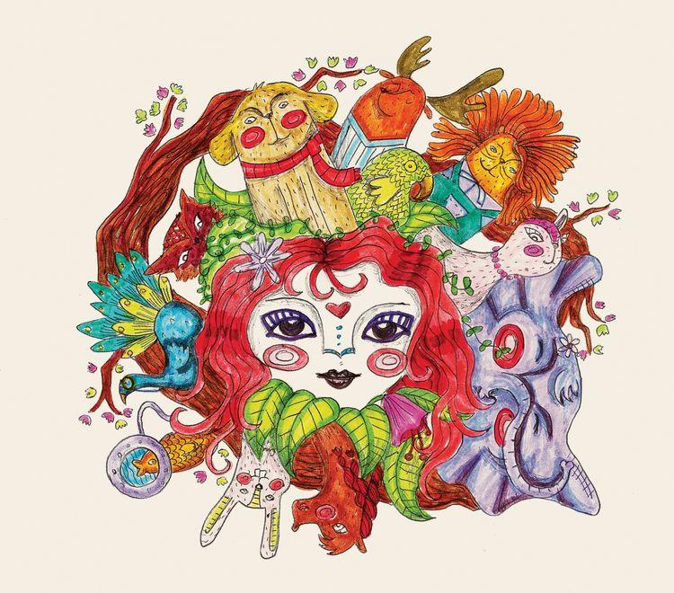 Nature girl - animals, children - maracarvajal   ello