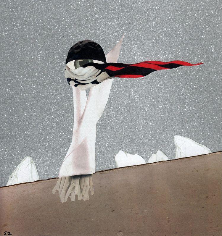 'Untold story', paper collage + - annasandalaki | ello